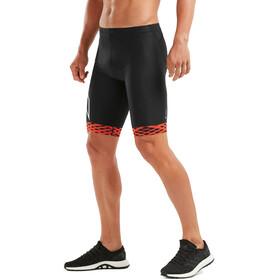 2XU Compression Tri Shorts Heren, black/white flame lines